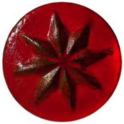 "1-1 Face designs - Pattern - Radial design - Painted metal (1-1/2"")"